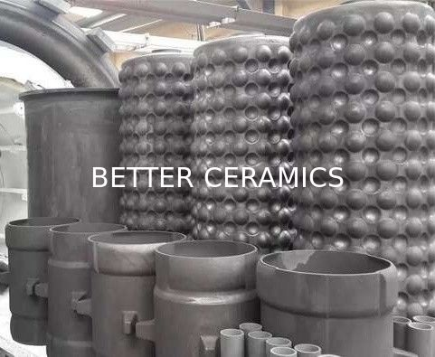Reaction Bonded Silicon Carbide Rbsic / Sisic Ceramics Shell Heat Exchanger