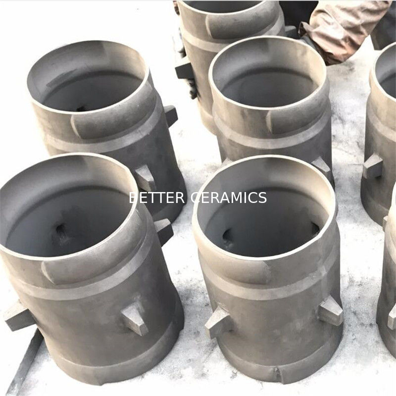 ISO9001 Silicon Carbide Pipe / Sleeve / Tube Good Thermal Conductivity