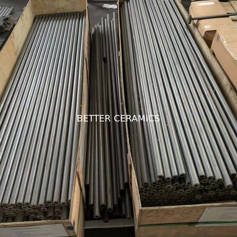 Wear Resistance Sisic Silicon Carbide Roller / Pipe Use For Tile Production