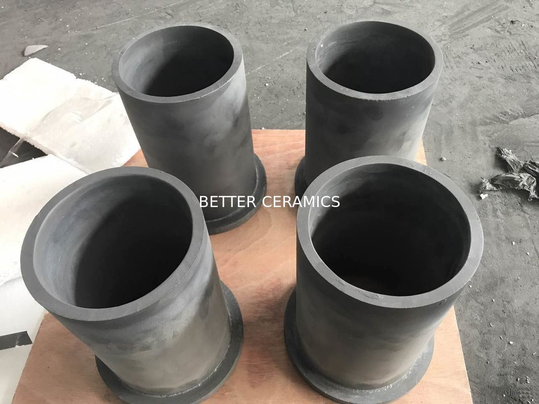 Custom SISIC RBSIC Silicon Carbide Parts Ceramic Liner Gray - Black Color