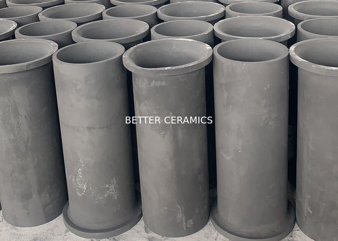Refractory Ceramics Recrystallized Reaction Bonded Silicon Carbide Sisic / Rbsic Burner Tube